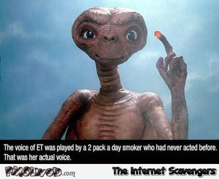 A fact about ET's voice you probably did not know @PMSLweb.com