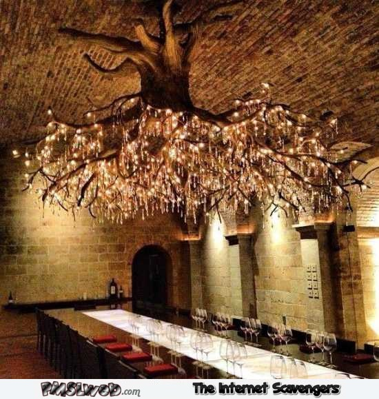 Amazing tree ceiling chandelier @PMSLweb.com