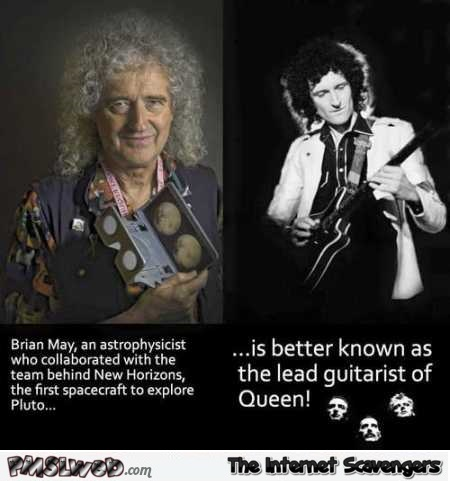 Interesting fact about Brian May @PMSLweb.com