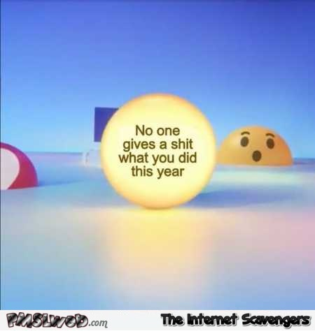 Funny sarcastic Facebook year review @PMSLweb.com