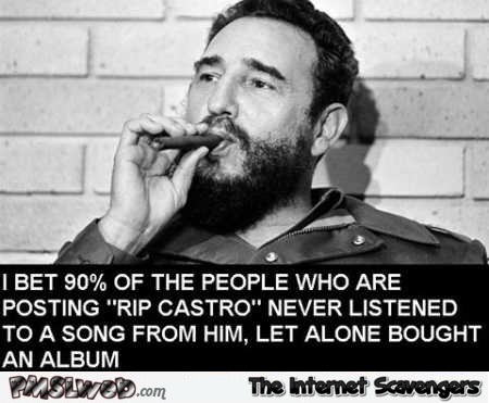 People who post RIP Castro funny meme