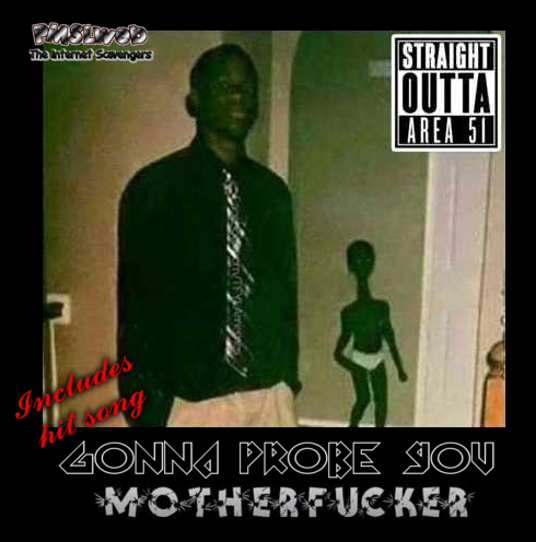 Funny black alien rap album @PMSLweb.com