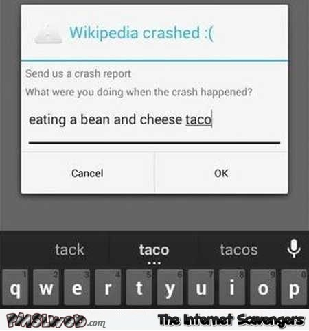 What were you doing when Wikipedia crashed humor – Hilarious memes and pictures @PMSLweb.com