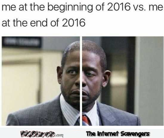 Me at the beginning versus at the end of 2016 @PMSLweb.com