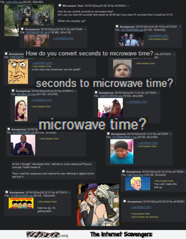 Funny microwave time fail @PMSLweb.com