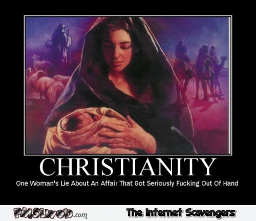 Christianity funny sarcastic poster @PMSLweb.com