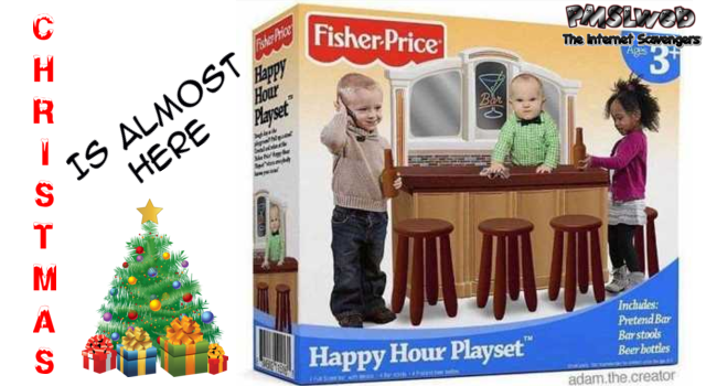 Funny Happy Hour playset meme @PMSLweb.com