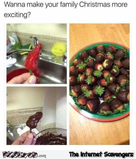 Funny Christmas chocolate pepper prank @PMSLweb.com