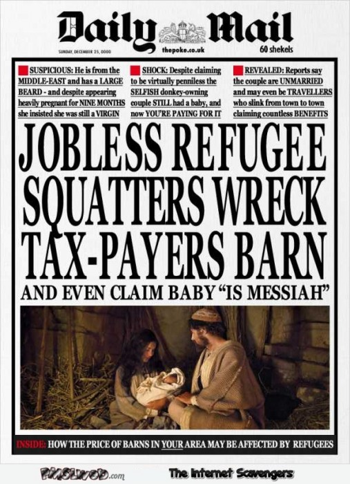 Funny ThePoke Daily mail Christmas edition