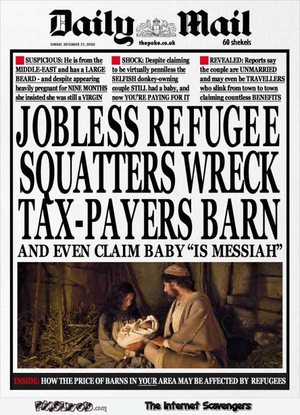 Funny ThePoke Daily mail Christmas edition @PMSLweb.com