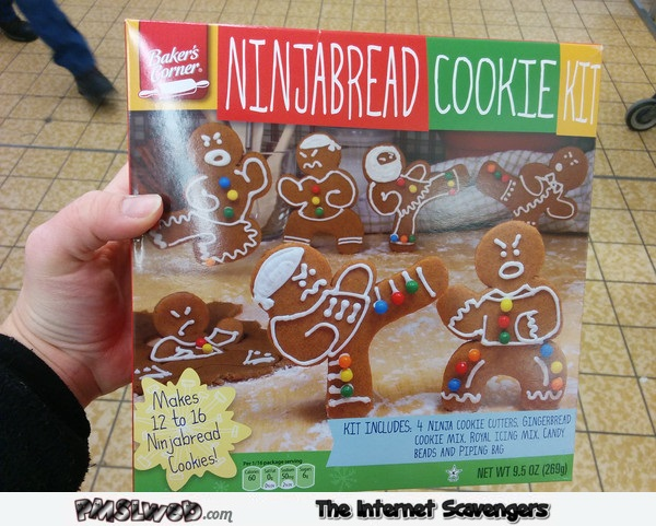 Funny Ninja bread cookie kit