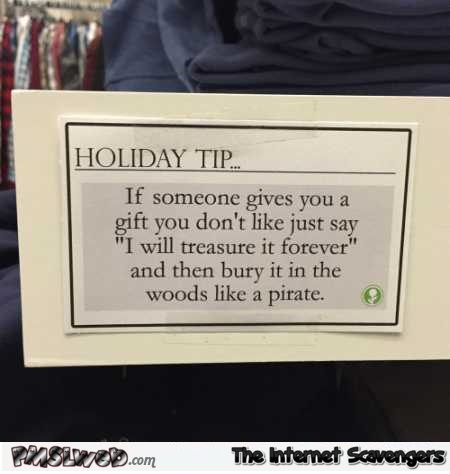 Funny holiday tip