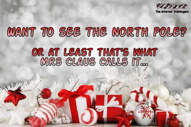 Want to see the North pole funny adult Christmas joke – Wednesday Shitz n Giggles @PMSLweb.com