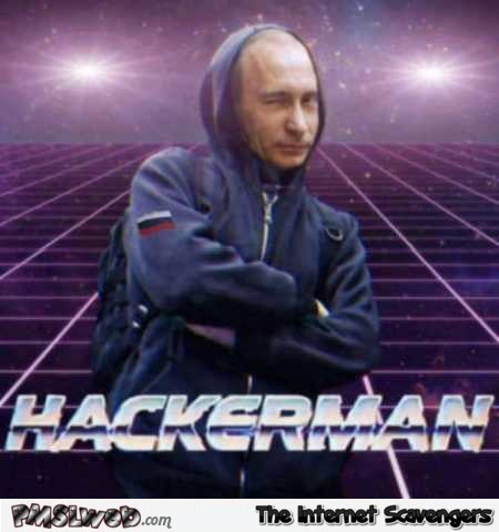 Putin is hackerman funny meme @PMSLweb.com