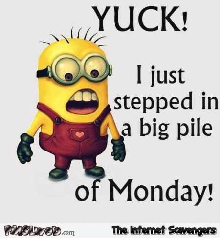 I just stepped in a pile of Monday sarcastic humor - Monday Shitz n Giggles @PMSLweb.com