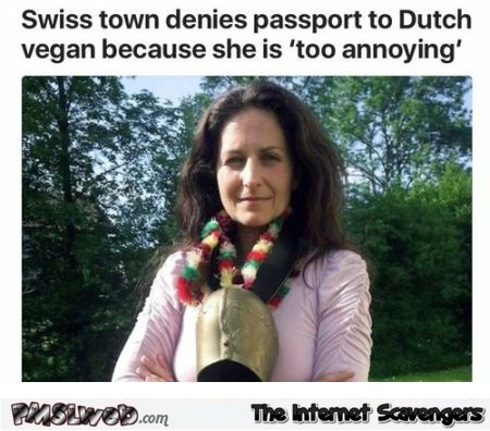 Swiss town denies passport to Dutch vegan @PMSLweb.com