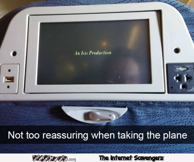 Isis video production on plane humor @PMSLweb.com