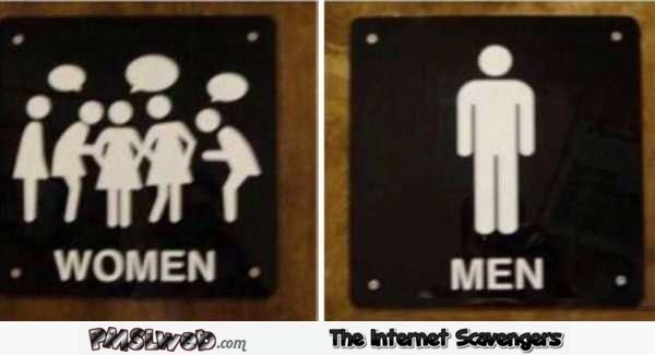 Funny gender toilet sign win @PMSLweb.com