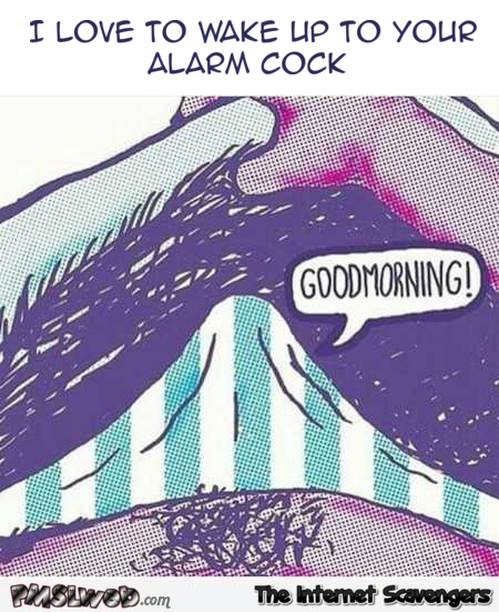 I love to wake up to your alarm cock adult humor @PMSLweb.com