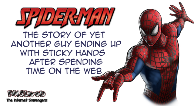 Funny Spiderman definition adult humor @PMSLweb.com