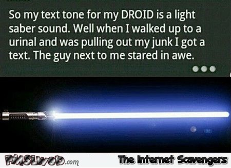 Light saber sound phone tone joke @PMSLweb.com