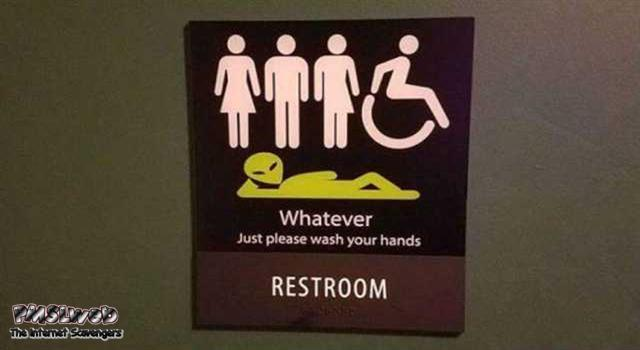Funny restroom whatever just wash your hands sign – Funny daily picture dump @PMSLweb.com
