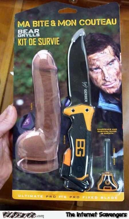 Funny naughty Bear Grylls survival kit @PMSLweb.com