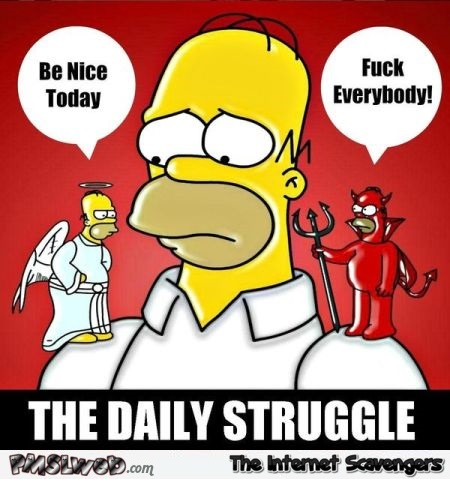 The daily struggle sarcastic meme - Crazy Wednesday zone @PMSLweb.com