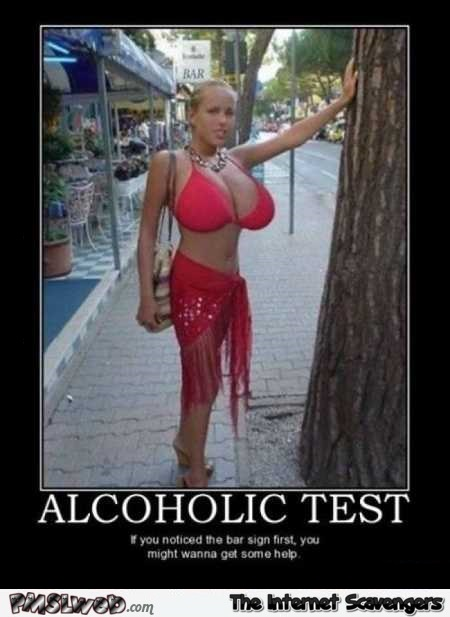 Funny alcoholic test – Humorous Internet nonsense @PMSLweb.com