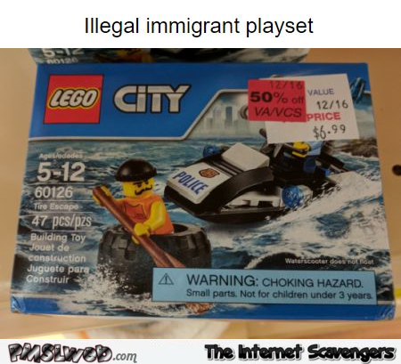 Funny Lego illegal immigrant playset @PMSLweb.com