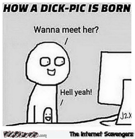 How a dick pick is born funny meme - Adult humor picture collection @PMSLweb.com