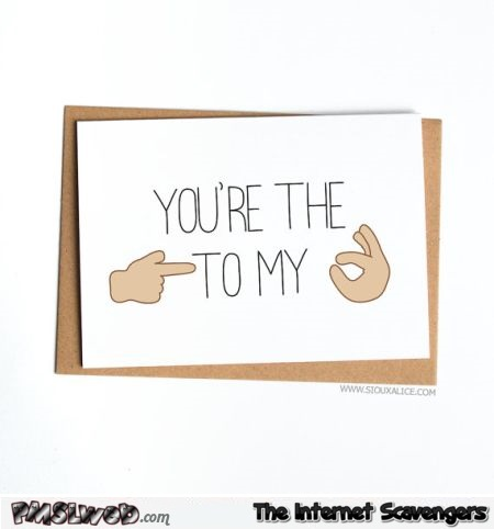 Funny suggestive Valentine's day card - Hilarious Valentines day guide @PMSLweb.com