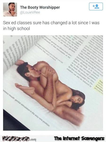 Funny sex ed classes sure have changed tweet adult humor @PMSLweb.com