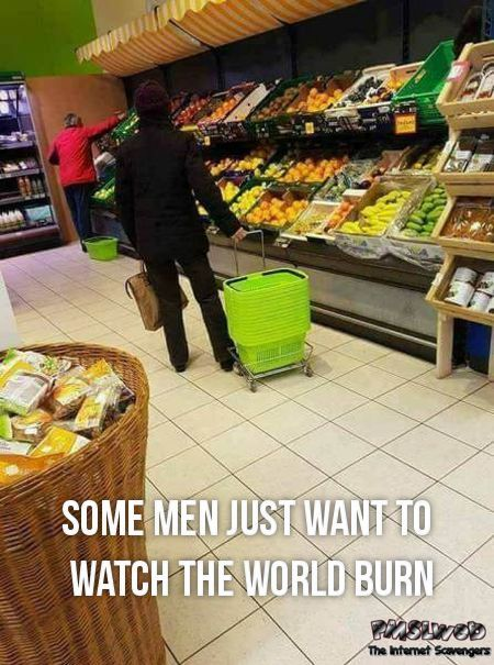 Funny shopping basket fail meme - Sunday chuckles collection @PMSLweb.com