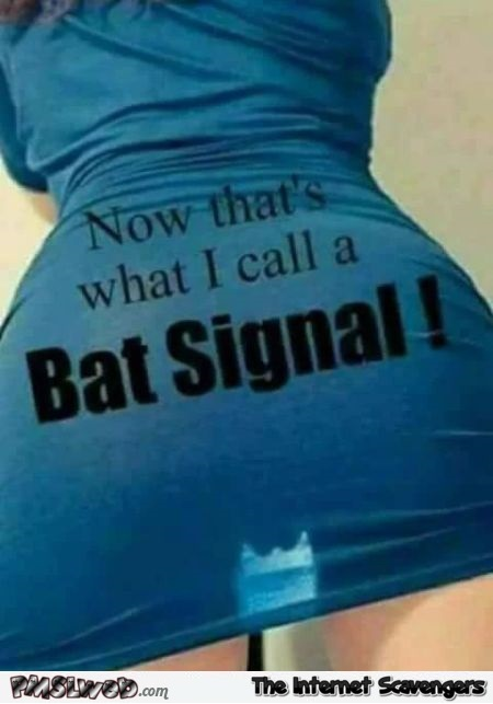 The original bat signal adult humor @PMSLweb.com