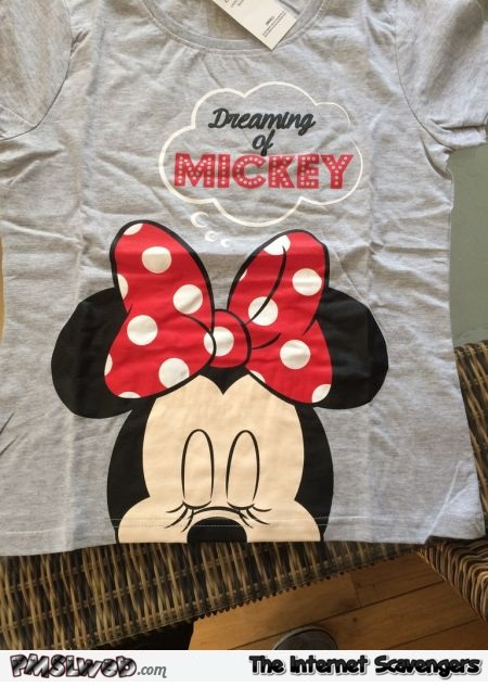 Dreaming of Mickey t-shirt adult humor - Thursday LOL pictures @PMSLweb.com