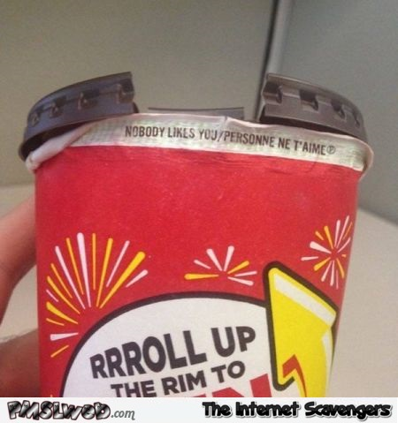 Even your soda doesn't like you humor