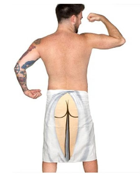 Funny butt towel for him