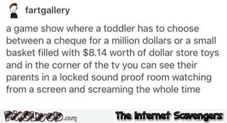 Funny game show idea with a toddler @PMSLweb.com