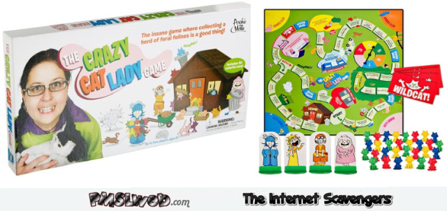 Funny crazy cat lady board game @PMSLweb.com