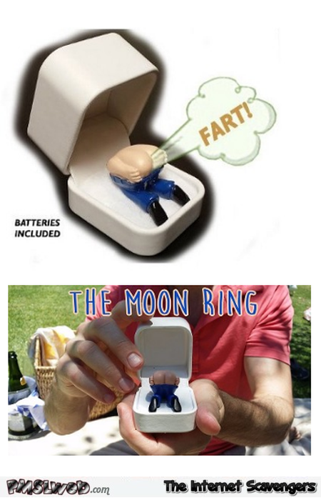 Funny moon engagement ring prank @PMSLweb.com