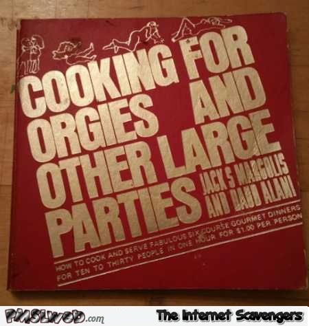 Funny cooking for orgies book