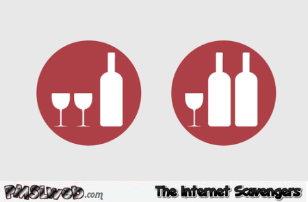 Wine for two versus wine for one humor - Hilarious Valentines day guide @PMSLweb.com