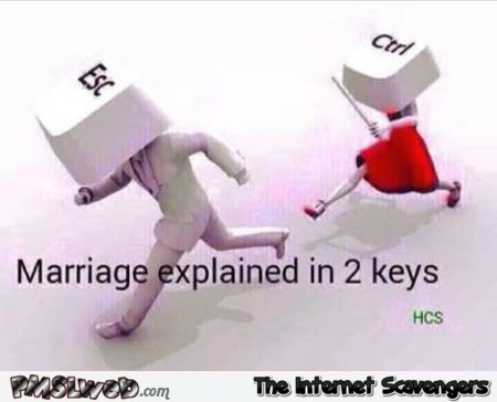 Marriage explained with 2 keys meme @PMSLweb.com