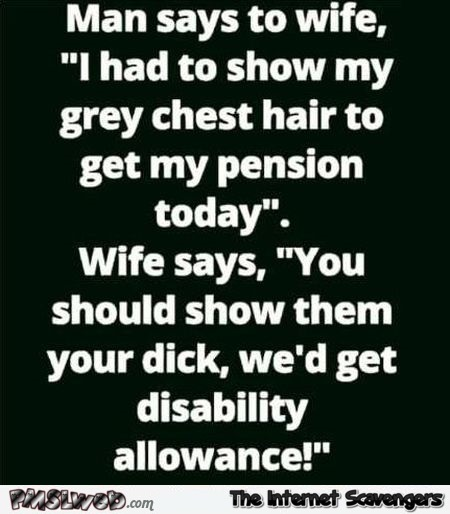 I had to show my grey chest hair funny adult joke @PMSLweb.com