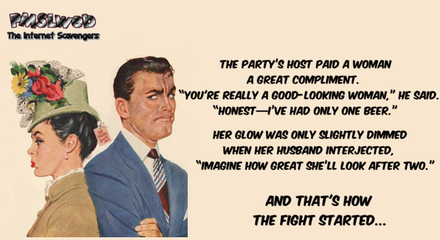 Husband and wife that's how the fight started joke @PMSLweb.com