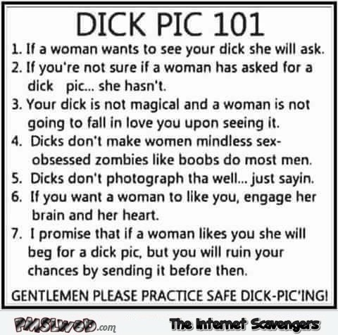 Dick pic rules adult humor - Funny naughty memes @PMSLweb.com