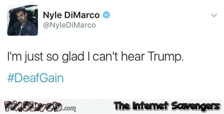 Funny deaf man tweet about trump
