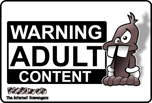 Funny warning adult content
