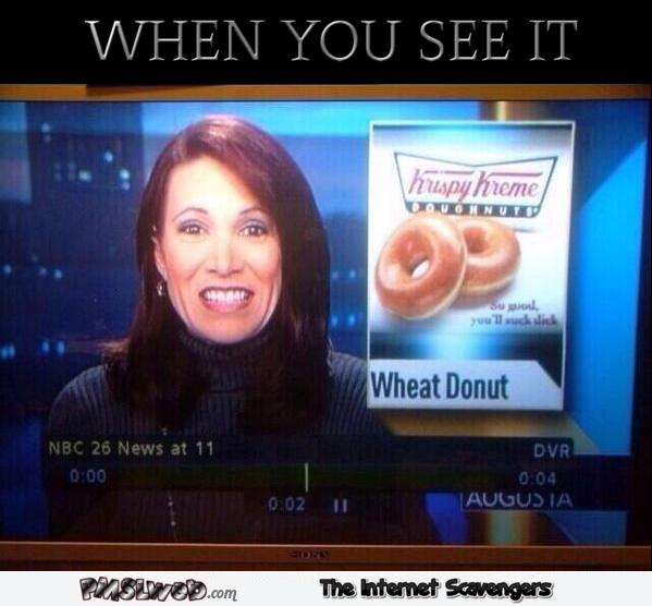 Funny wheat donut TV fail @PMSLweb.com